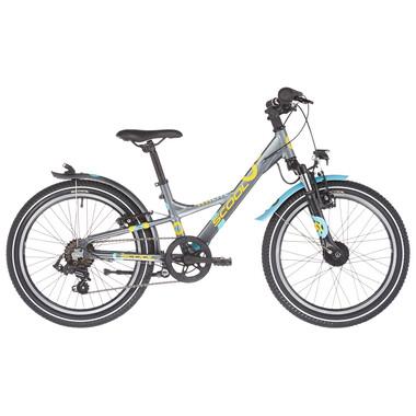 """Vélo de Ville S'COOL XXLITE Alu 7V 20"""" Gris/Jaune 2021"""